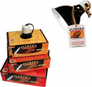 Figure 8 - Fluker's Ceramic Heat Emitter and Fluker Clamp Lamps