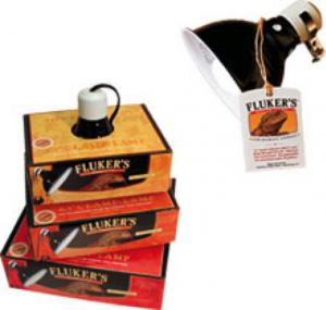 Figure 8 - Fluker's Ceramic Heat Emitter and Fluker Clamp Lamps