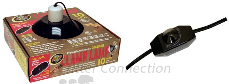 Figure 5 - Deluxe Dimmable Clamp Lamp with the Dimmer switch